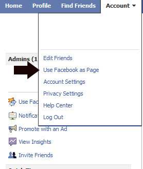 Use Facebook as a Fan Page
