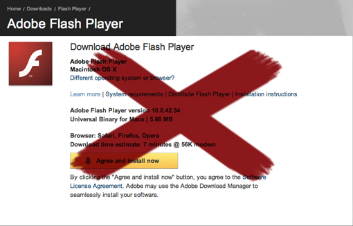 Avoid running the website on Flash.